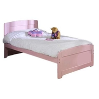 Beds  - Rainbow Bed Frame in Pink Rainbow Bed in Park Single  Guard Rail Included Not Included