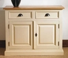 Mottisfont Painted 2 Door 2 Drawer Hall Cupboard (White, Oak, Wooden)
