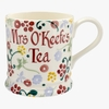 Crockery Personalised Spring Floral 1 Pint Mug
