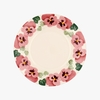 Crockery Seconds Pink Pansy 8 1/2 Plate