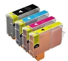 4 Compatible Ink Cartridges to Replace BCI6 BCI3E Cyan Magenta Yellow Black Capacity 81 ml