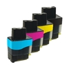 4 Compatible Ink Cartridges to Replace LC900 Cyan Yellow Magenta Black Capacity 80 ml