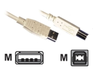 Cables  - 4 PIN USB A TO B CABLE - 3M