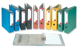 Office Supplies  - 5 Star Office Lever Arch File 70mm Spine Foolscap Green Pack 10