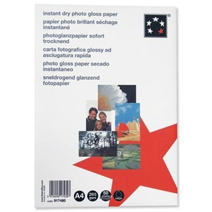 Office Supplies  - 5 Star Premier Photo Inkjet Paper Gloss 265gsm A4 White 50 Sheets