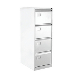 Computers  - Bisley 4 Drawer Filing Cabinet Chalk White