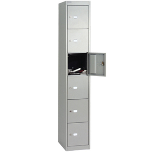 Computers  - Bisley 457mm 6 Door Locker - Goose Grey