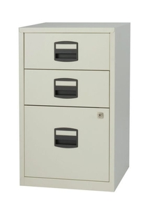 Computers  - Bisley A4 Home Filer 3 Drawer Lockable Grey