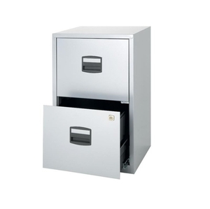 Computers  - Bisley A4 Personal Filing 2 Drawer Lockable Grey