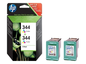 Printer Consumables  - *HP 344 Colour Ink Cartridge- Twin Pack - C9505EE