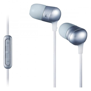 Computer Components  - J V. C Marshmallow Remote Headphones With Mircophone - Silver.