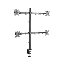 Xenta Quad Monitor Mount for 13-32inch Screens Double Arm Desk Stand Bracket with Clamp