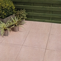 DIY  - Bradstone, Textured Paving Red 450 x 450 - 40 Per Pack