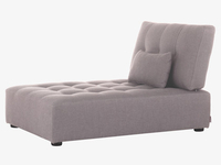 Fabric chaise seat unit