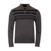 Stripe Block Lined Sweater Charcoal