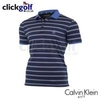 Stripe Performance Polo Golf Shirt - Black/Blue