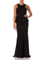 - EBONY - Black Fishtail Maxi Dress