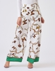 Women's Dresses & Skirts Forever Unique White And Green Butterfly Chain Print Wide Leg Trousers - M, White