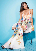 - REETA - Tropical Print Maxi Dress