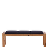 Savannah Bench With Seat Pads,  Wild Oak