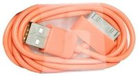 Mobile Phone Accessories  - Orange 1m USB Data Sync Charging Cable Lead For iPhone 4 4S 3G 3GS iPad 2 iPod