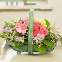Flowers  - Pretty in Pink Trug Flowers