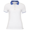 Green Lamb Claudine Club Polo - White/Sapphire