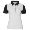 Green Lamb Cliona Pin Dot Polo - Black/White