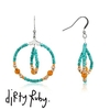 Dirty Ruby Indian Summer Turquoise Beaded Earrings