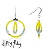 Dirty Ruby Indian Summer Yellow Beaded Earrings