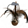 Feather Ball Squeaky with Mouse - 15 cm