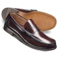 General Clothing   - Wine Hatton penny loafer shoes