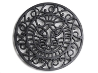 Cats Face Trivet - Heat Resistant for Wood Burning Stoves