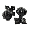 Louis Fraser 262 Door Knob Set - Black Finish