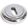 Round Escutcheon with a Radius Edge - Chrome Finish