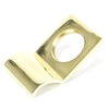 Rustic Cylinder Latch Cover - Polished Brass