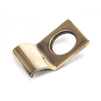 Rustic Cylinder Latch Cover - Polished Bronze