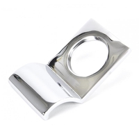 Rustic Cylinder Latch Cover - Polished Chrome