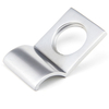 Rustic Cylinder Latch Cover - Satin Chrome