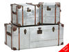 Bardem Silver Metal Trunks - Set Of 3