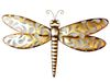 Champagne Dragonfly Metal Wall Art
