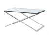 Davidson Cross Frame Metal and Glass Coffee Table