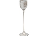Glitzy Glam Glass Tealight Goblet with Nickel Stem - Medium