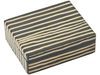 Wooden Table Box - Gloss Black with Cream Stripe - Small