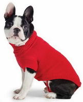 Pets  - Xtra Warmth Cable Knit Sweater Ancol Red XSmall