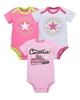 Baby Clothes Converse Baby Girls Pack Three Rompers