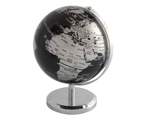 Office Supplies  - Ryman Mini Globe 14cm, Blk Ocean/Silv