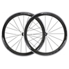 Cycling Shimano WH-RS81 C50 Carbon Clincher Road Wheelset - Carbon / Pair / 8-11 Speed / 700c / Clincher