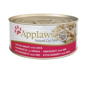 Pets  - Applaws Cat Tin 70g Chicken with Duck
