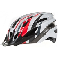 Cycling  - Raleigh Mission Helmet Red/Silver